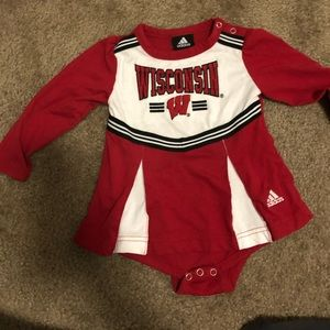 University of Wisconsin toddler outfit